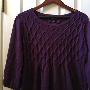 AB Studio Plum Purple Sweater Dress Size XL